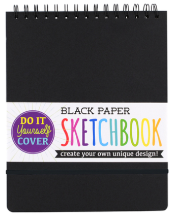 Art Series Black Paper DIY Sketchbook