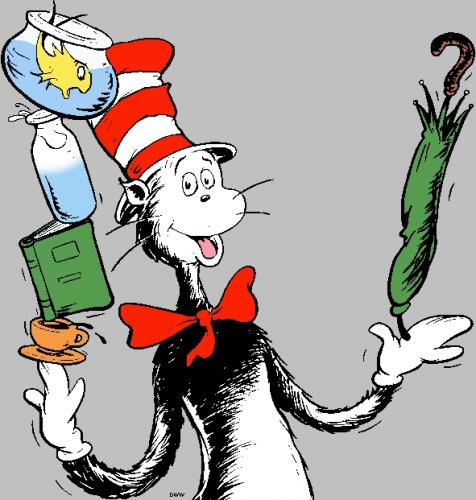 free clipart cat in the hat - photo #25