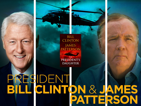 James Patterson and President Bill Clinton event