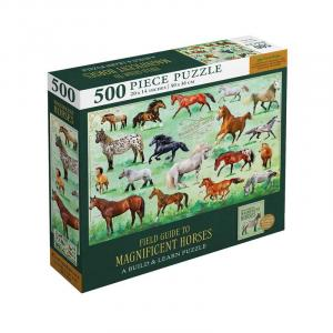Magnificent Horses 500 Piece Jigsaw Puzzle & Booklet