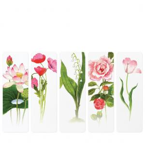 Felix Doolittle Bookmarks - Pink Posies - Set of 5