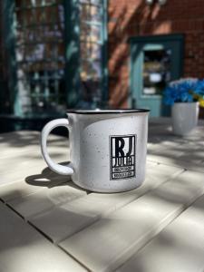 RJ Julia Ceramic Enamel Camp Mug