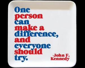 Quotable Cards One Person Can Make A Difference Dish