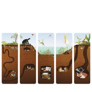 Felix Doolittle Bookmarks - By the Pond - Set of 5