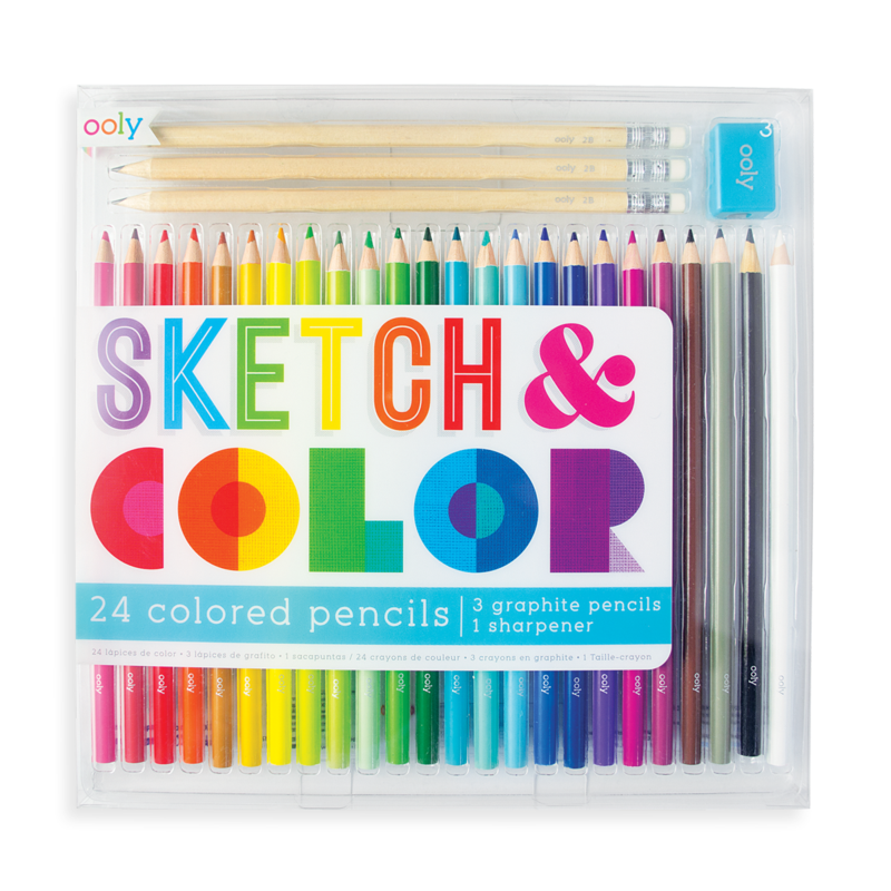 Ooly Sketch And Color Colored Pencil Set 28 Piece Set Rj Julia Booksellers